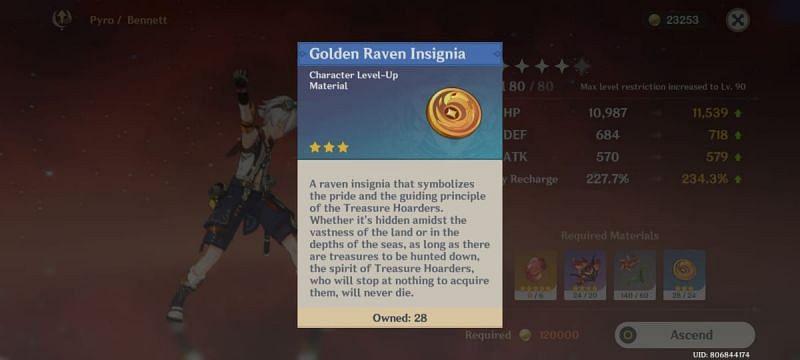 Required Insignia to ascend Kazuha in Genshin Impact 1.6 update