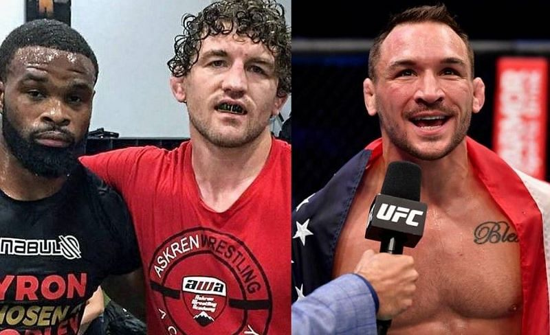 """They made me believe in myself"" – An emotional Michael Chandler reacts to Tyron Woodley and Ben Askren's words of encouragement"
