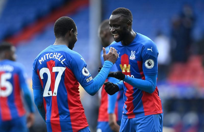 Mitchell(L) scored the winner for Palace against Aston Villa.