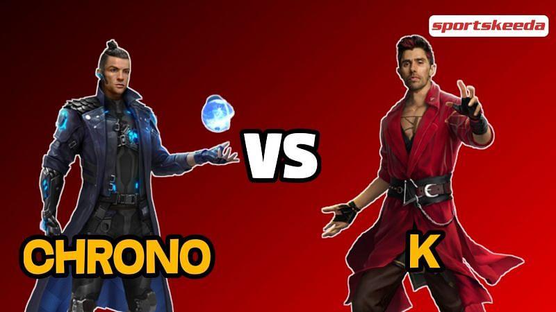 Free Fire में Chrono और K