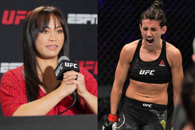 Michelle Waterson (left) and Marina Rodriguez (right)
