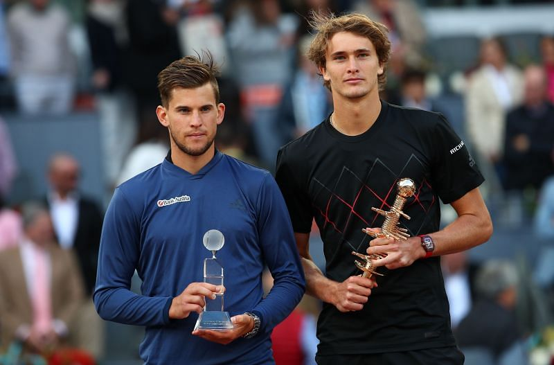 Alexander Zverev after beating Dominic Thiem in the 2018 Mutua Madrid Open final