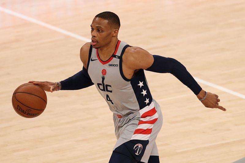Russell Westbrook with the Washington Wizards