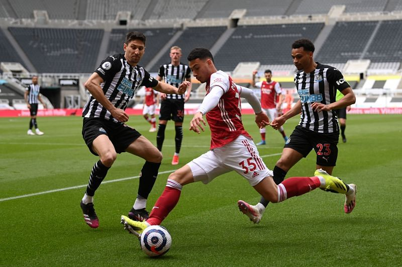 Gabriel Martinelli produced an assist for Arsenal captain Pierre-Emerick Aubameyang.