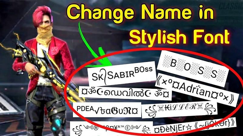 Players can keep fancy names as their moniker in Free Fire (Image via Gaming Chiranjit, YouTube)