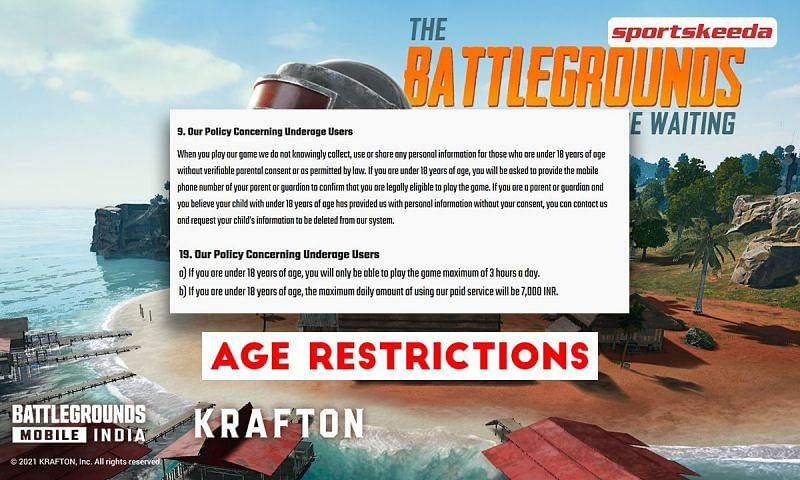 Age restrictions in Battlegrounds Mobile India (PUBG Mobile): All you need to know