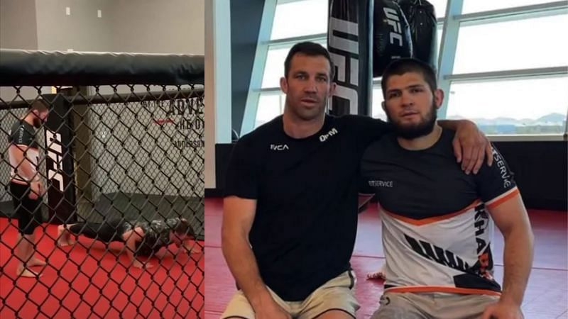 Luke Rockhold (left) and Khabib Nurmagomedov (right)