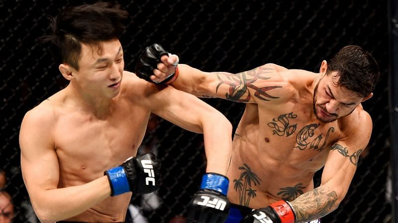 Doo Ho Choi (left); Cub Swanson (right)