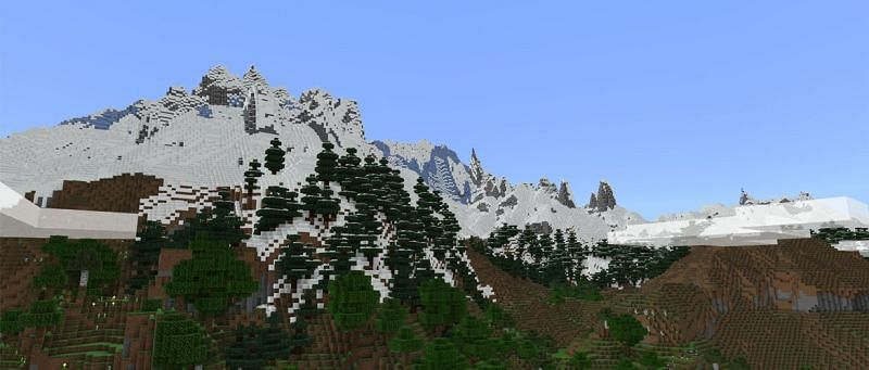An example of how large mountains are (via Minecraft Wiki)