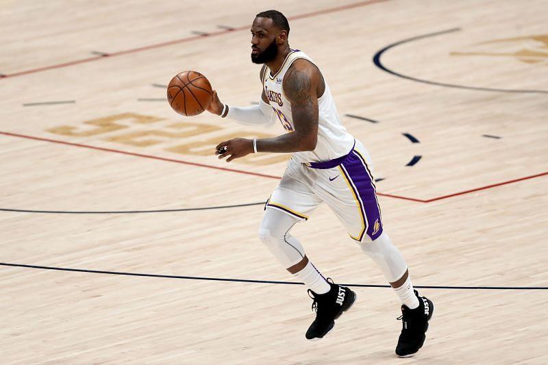 LeBron James #23 of the LA Lakers