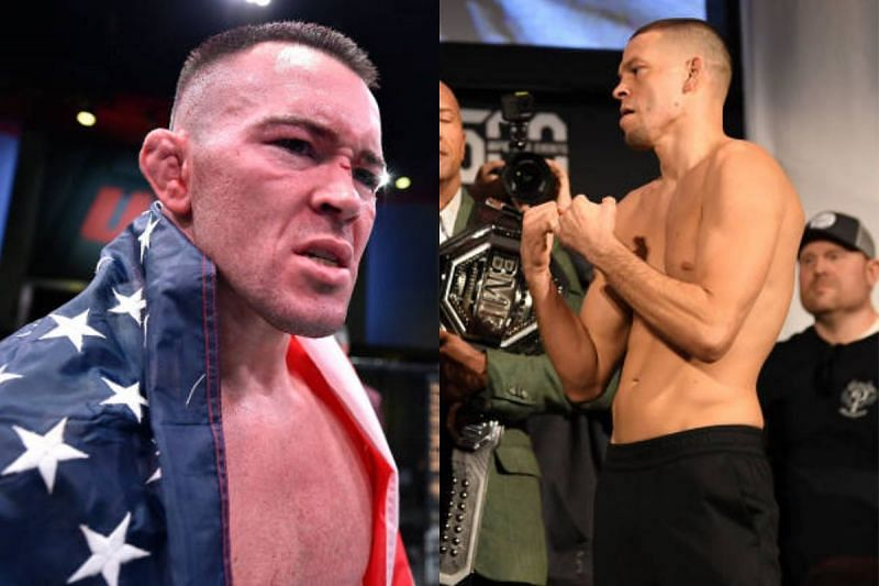 Colby Covington (left); Nate Diaz (right).