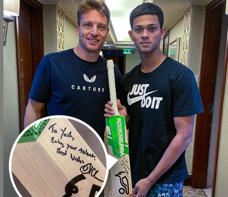 Jos Buttler (left) and Yashasvi Jaiswal Pic: RR/ Twitter