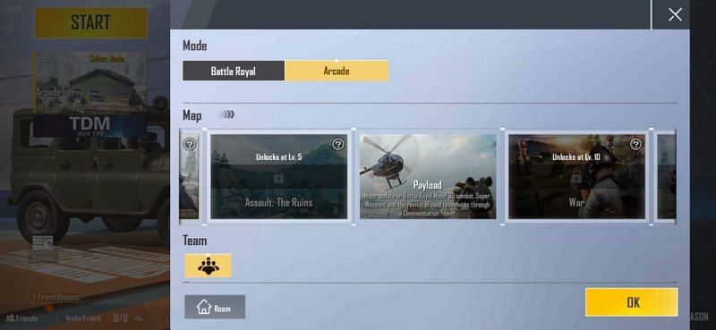 Practice in Payload mode in PUBG Mobile Lite