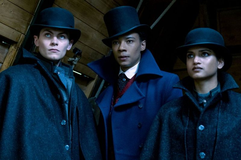 Kaz, Jesper and Inej in Shadow and Bone/Image via Netflix