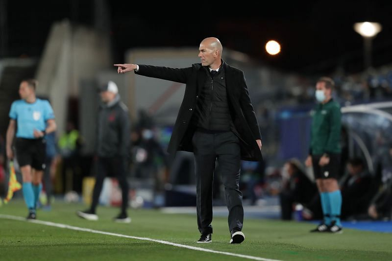 Real Madrid manager Zinedine Zidane (Photo by Gonzalo Arroyo Moreno/Getty Images)