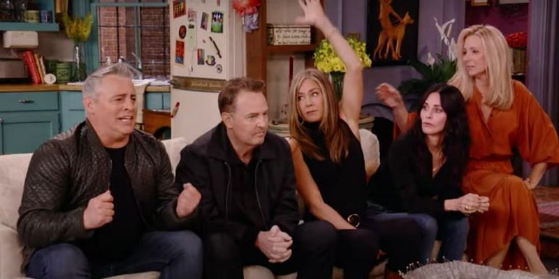 """Still from """"Friends: The Reunion"""" one-off special trailer (Image via HBO Max)"""