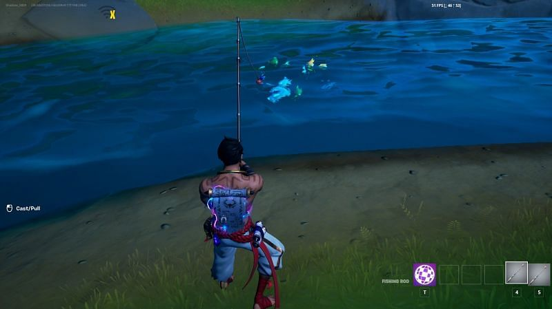 Players can attempt to complete the fishing challenge in Fortnite