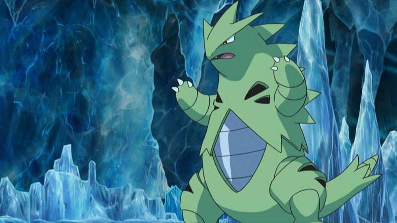 Tyranitar in the anime (Image via The Pokemon Company)