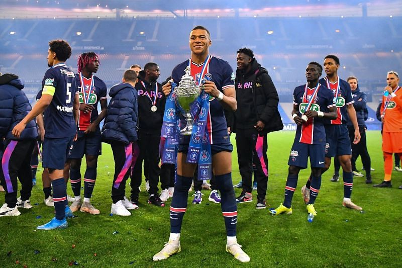 Kylian Mbappe has just one year left in his contract at PSG.