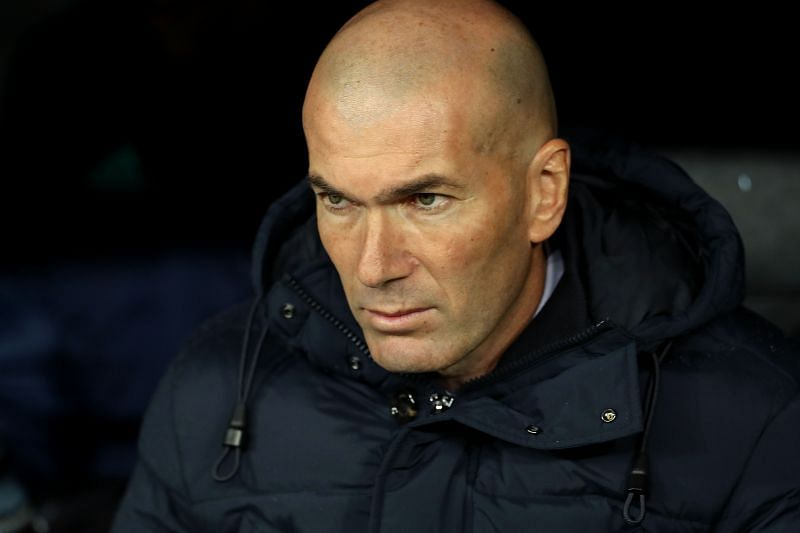Real Madrid manager Zinedine Zidane. (Photo by Angel Martinez/Getty Images)