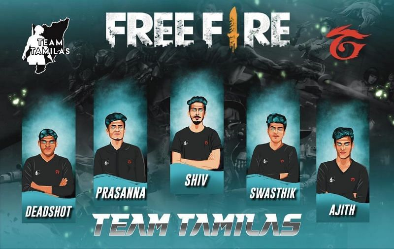 Team Tamilas Free Fire roster