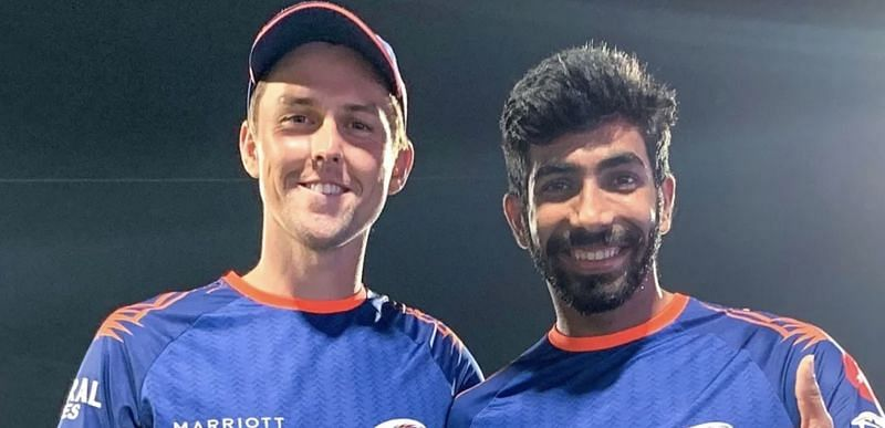 Trent Boult (left) and Jasprit Bumrah will lead the Indian and New Zealand pace attacks respectively (Photo: Mumbai Indians)