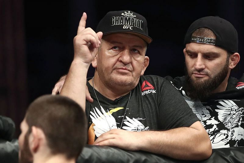 Abdulmanap Nurmagomedov has played the biggest role in shaping his son