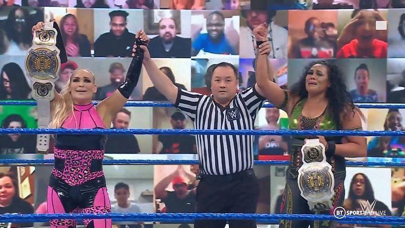 Women's Tag Team Champions Natalya and Tamina