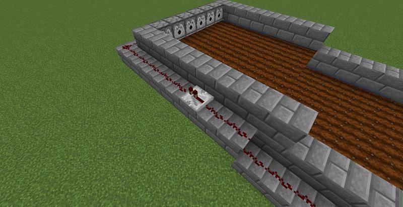 Add Redstone repeater (Image via Minecraft)