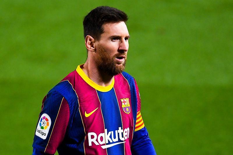 Lionel Messi in Barcelona colours