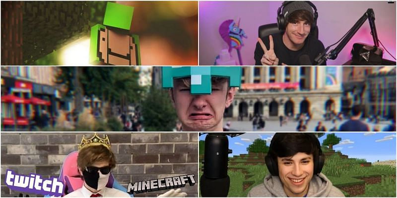 A college of the Minecraft Twitch legends (Image via photojoiner)