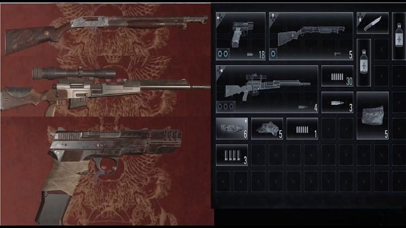 Resident Evil Village has an exhaustive set of weapons players can use (image via Capcom)
