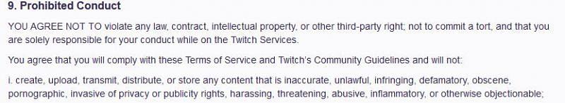 Prohibited Content{Image via Twitch}