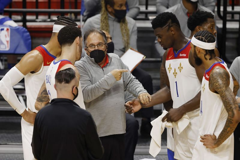 Coach Stan Van Gundy and his New Orleans Pelicans still have their playoff hopes alive as they sit in the 11th spot in the Western Conference