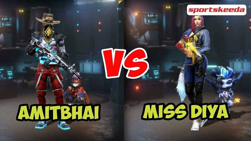 Amitbhai and Miss Diya in Garena Free Fire