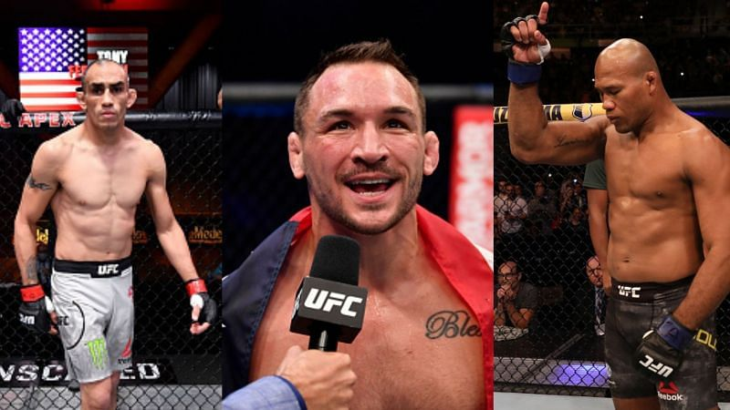 Tony Ferguson, Michael Chandler, and Jacare Souza will feature at UFC 262.
