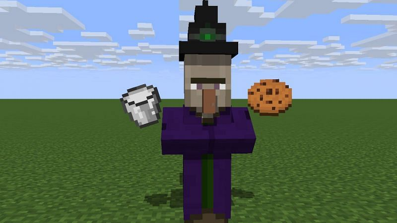 Witch with a cookie and milk (Image via planetminecraft)