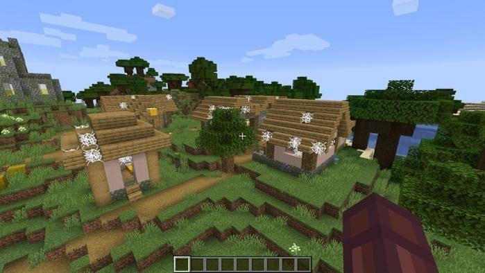 Abandoned village near the dark oak forest (Image via gamersdecide)