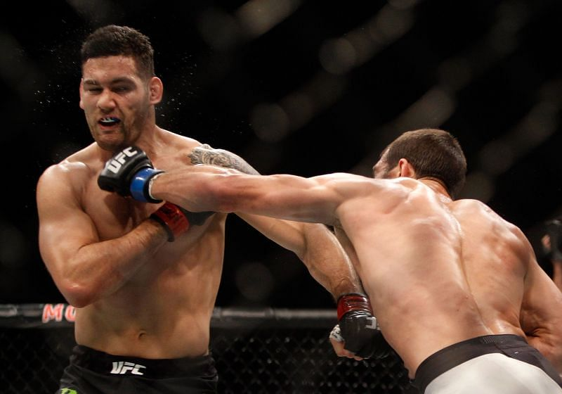 Chris Weidman appeared to age overnight following his fight with Luke Rockhold
