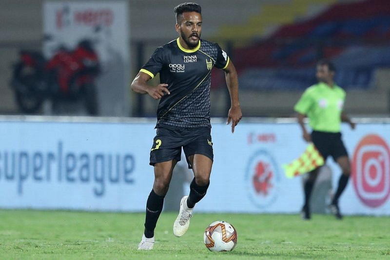 Sahil Panwar in action for Hyderabad FC (Image: ISL Media)