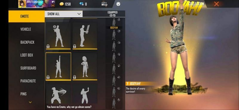 Booyah! emote in Free Fire