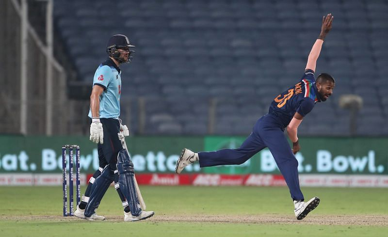 Hardik Pandya bowled in all five T20Is against England, picking up 3 wickets in the process