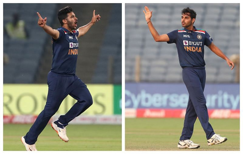 Shardul Thakur and Bhuvneshwar Kumar are two bowlers who have struggled to find their groove. (Getty)