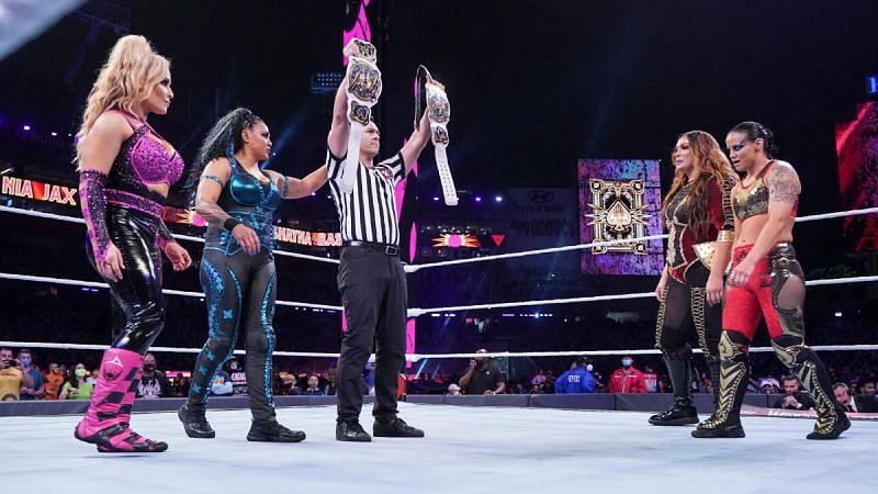 Natalya y Tamina compitieron en ambas noches de WrestleMania 37