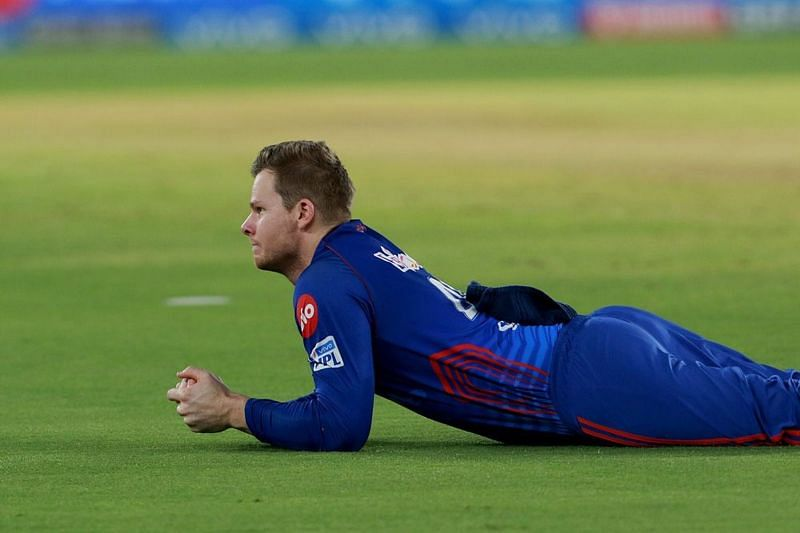 Steve Smith in action during the IPL 2021 match between the Delhi Capitals and the Punjab Kings (Image Courtesy: IPLT20.com)