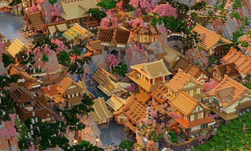 An amazing Japanese village on a cliffside (Image via u/6Spooky9 on Reddit)