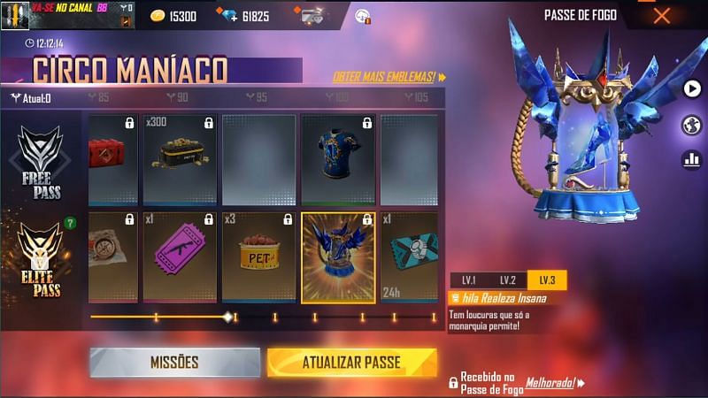 The backpack skin is available at 100 badges (Image via Freefirenews / YouTube)