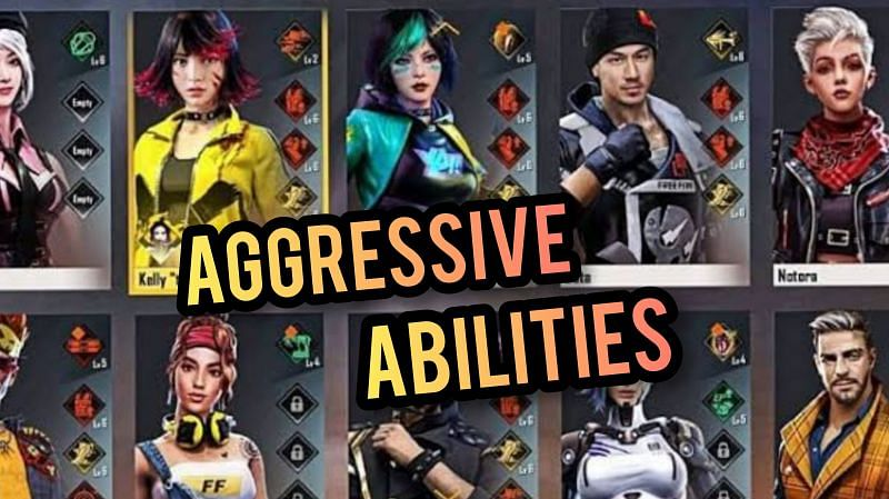 Best character abilities in Free Fire for aggressive gameplay