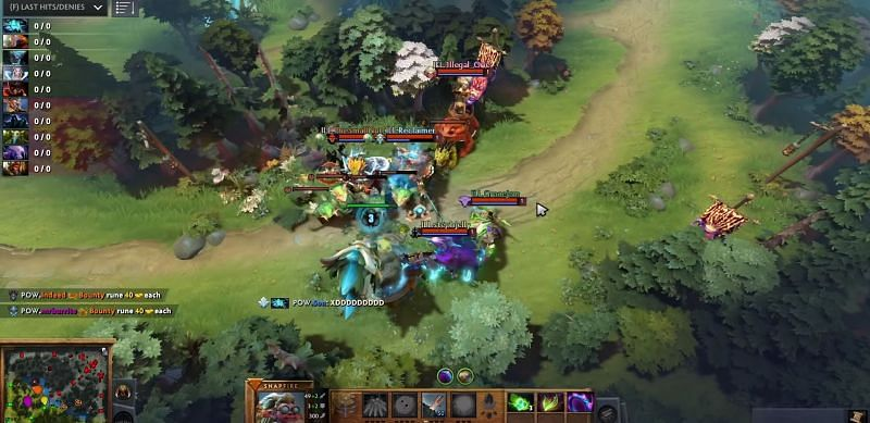 Game-ruining 0-minute tower strategy in Dota 2 (Image via dotavru)