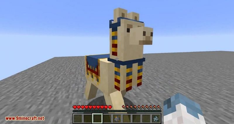Minecraft llama (Image via 9Minecraft)